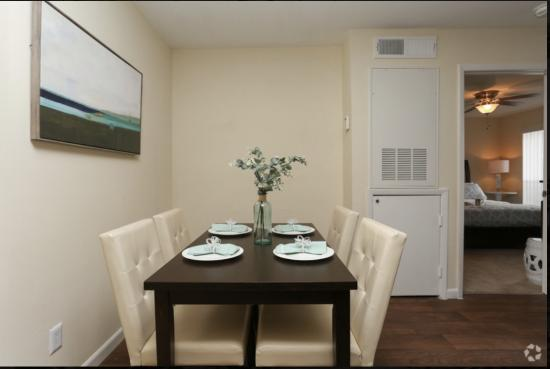 Model Dining Room Cape Cod, 1BR,1BA_ 650 SF  - Breakers Apartments